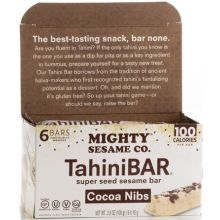 Mighty Sesame 6 Cocoa Nibs Tahini Bars