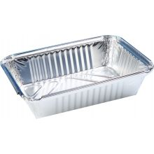 10 x 1 Litre Rectangular Foil Containers (NO LIDS)