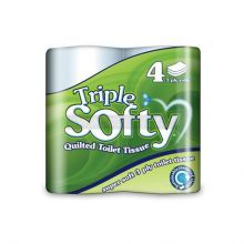 4 Softy 3 Ply Toilet Paper