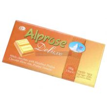 Alprose White Chocolate with Hazelnut Praline Bar