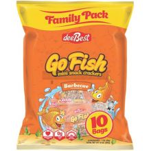 Dee Best Go Fish 10 Pack BBQ Crackers