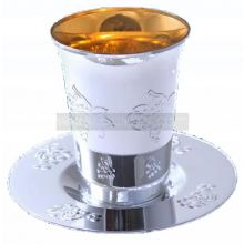5 Silver Plastic Kiddush Cup Trays