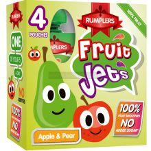 Rumplers Fruit Jet Apple & Pear Pouches