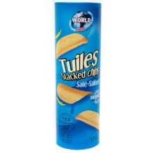 Tuiles Stacked Salted Crisps