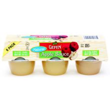 Gefen's 6 Pack Mini Natural Apple Sauce