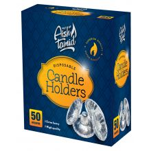 50 Silver Disposable Candle Holders