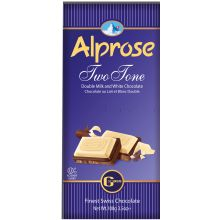 Alprose Swiss Two Tone Chocolate Bar