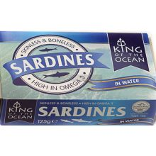 King of Ocean Sardines in Water