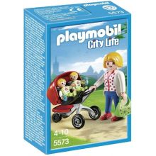Playmobile Mother with Twin Stroller (5573)