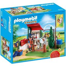 Playmobile Horse Grooming Station with Working Water Pump (6930)