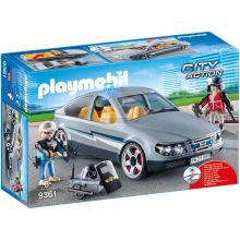 Playmobile SWAT Undercover Car with Removeable Flashing Blue Light (9361)