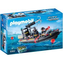 Playmobile SWAT Boat with Hook Cannon (9362)