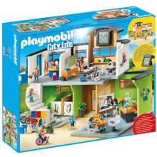 Playmobile Furnshed School Building with Clock( 9453)