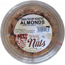 World of Nuts Roasted Unsalted Almonds