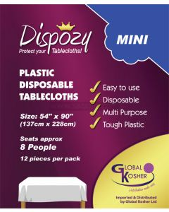 "12 Dispozy Mini Tablecloths (54"" x 90)"