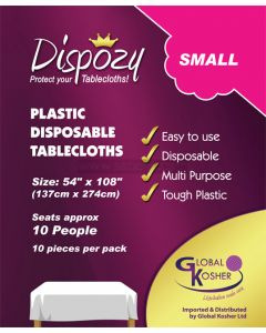"8 Dispozy Small Tablecloths (54"" x 108)"