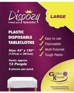 "8 Dispozy Large Tablecloths (54"" x 150)"