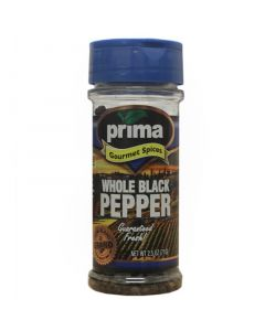 Prima Spices Whole Black Pepper