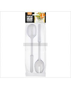 Clear Plastic Salad Servers
