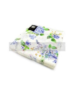 20 3 Ply Blue Flower Napkins