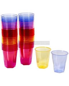 50 Rainbow Coloured Party Cups
