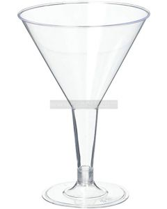 6 Clear Martini Glasses