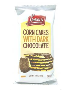 Liebers Parve Chocolate Coated Corn Cakes