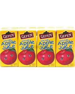 Gefen 4 Pack Apple Juice Mini Cartons