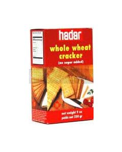Hader Whole Wheat Sugar Free  Crackers