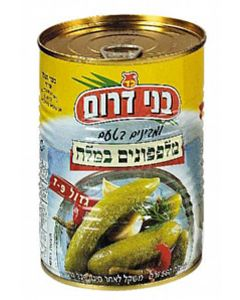 Bnei Darom Large Cucumbers in Brine (7 - 9 Pickles)