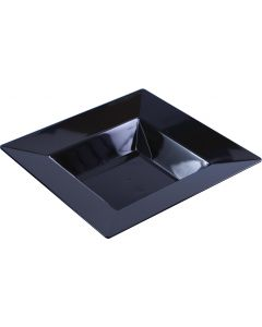10 Large 12 Oz Square Black Soup Bowls