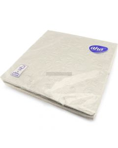 20 3ply Silver Embossed Napkins