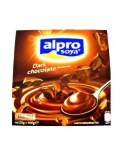 4 Alpro Dark Chocolate Dessert Pudding