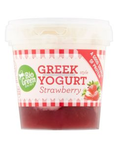 Bio Green Greek Style Strawberry  Yoghurt