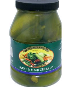 Rumplers Sweet & Sour Gherkins
