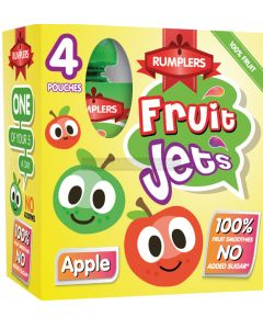 Rumplers Fruit Jet Apple Pouches