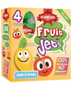 Rumplers Fruit Jet Apple & Mango Pouches