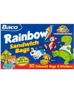 Baco 30 Childrens Rainbow Sandwich Bag