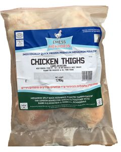 IQF Emess Mehadrin Chicken Thighs - Avg 1.3 Kg £8.25/Kg