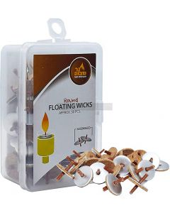 50 Standard Round Floating Wicks Ready Assembled
