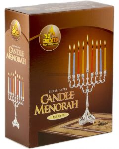 "Silver Plated 8"" Height Candle Menorah"