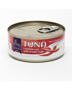 King of Ocean Tuna Chunks in Oil with Chili