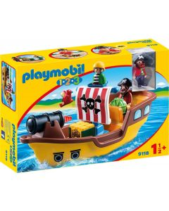 Playmobile Floating Pirate Ship with working Water Cannon (9118)