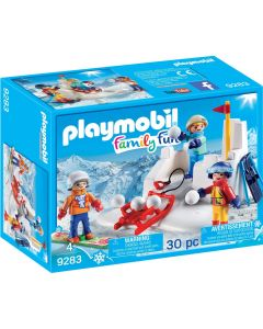 Playmobile Winter Snowball Fight with Sled (9283)