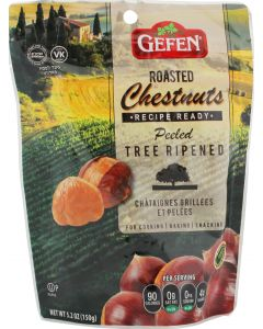 Gefens Whole Roasted Peeled Chestnuts