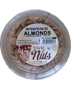 World of Nuts Dry Roasted Salted Almonds