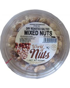 World of Nuts Dry Roasted Salted Mixed Nuts