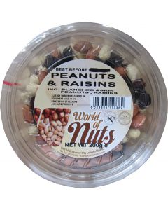 World of Nuts Peanuts and Raisins Mix